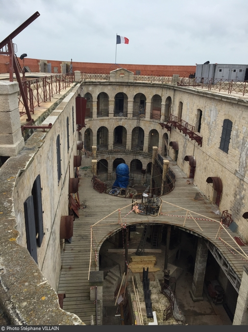 Fort Boyard 2015 : Vue de la cour intérieure (18/04/2015)