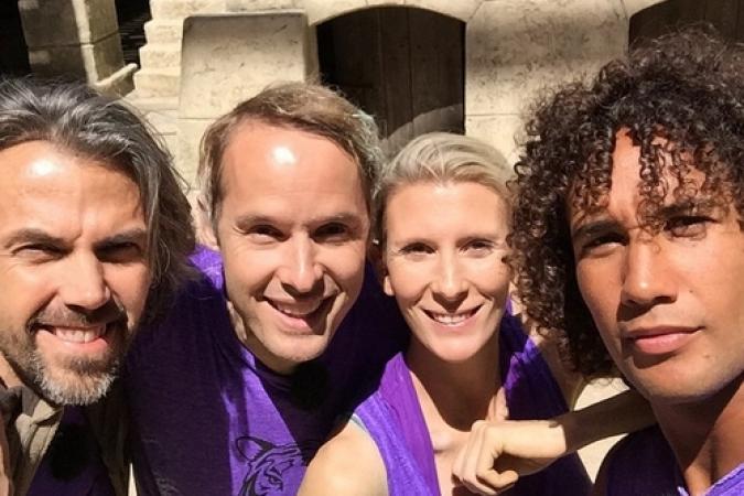Fort Boyard 2015 : Aymeric CARON, Hélène GATEAU, Damien THEVENOT, Laurent MAISTRET (27/05/2015)