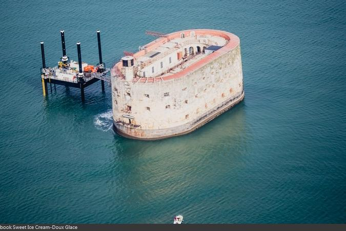 Fort Boyard 2015 : Vue aérienne (28/04/2015)