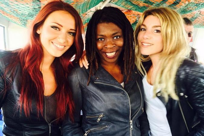 Fort Boyard 2015 : Delphine WESPISER, Princess Erika et Lola MAROIS-BIGARD (28/05/2015)