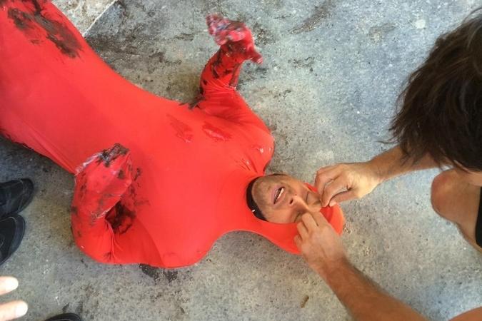 Fort Boyard 2015 : Photo d'Olivier de l'émission 4 (18/07/2015)