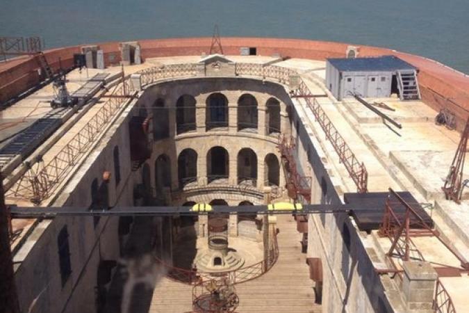 Fort Boyard 2015 : Vue générale de la cour intérieure (18/05/2015)