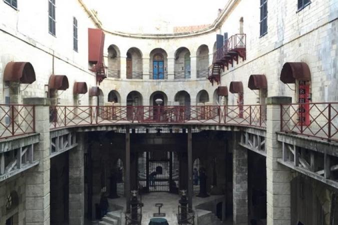 Fort Boyard 2015 : Vue de la cour intérieure (18/05/2015)
