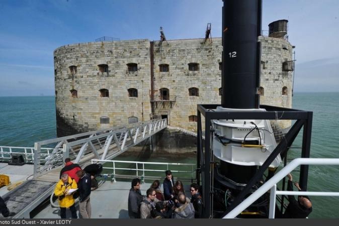 Fort Boyard 2016 - Inauguration de la plate-forme Banjaert (22/04/2016)