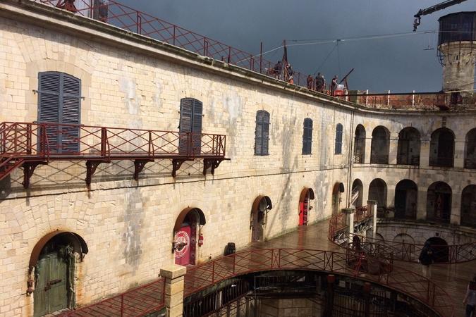 Fort Boyard 2016 - Ciel orageux au dessus du fort (10/06/2016)