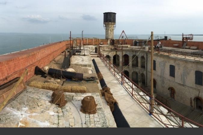 Fort Boyard 2016 - Vue de la terrasse et de la cour