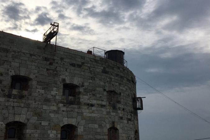 Fort Boyard 2016 - Lever de soleil au dessus du fort (31/05/2016)