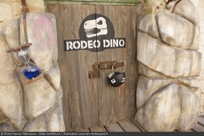 Fort Boyard 2017 - La porte de l'épreuve du Rodéo Dino