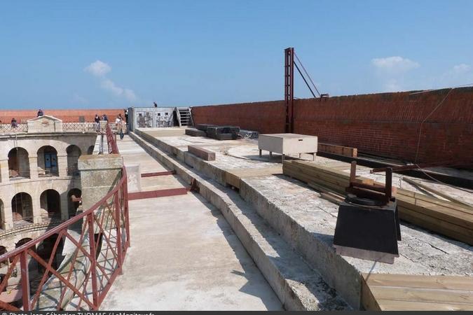 Fort Boyard 2017 - Vue de la terrasse (03/05/2017)