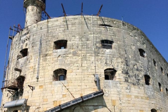 Fort Boyard 2017 - Vue de la façade sud-est (03/05/2017)