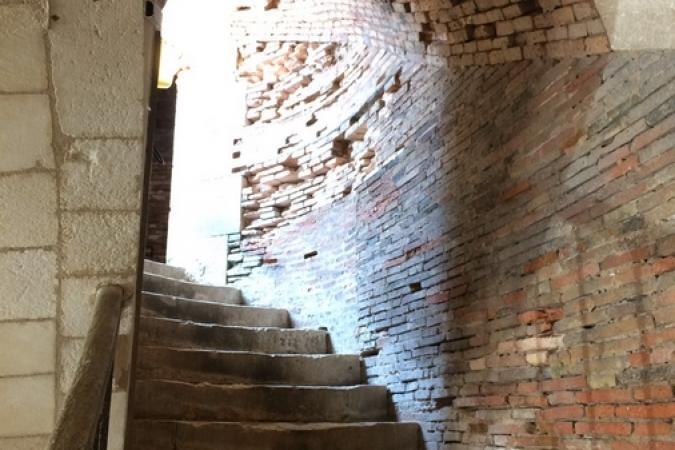 Fort Boyard 2017 - Escalier d'accès à la terrasse (03/05/2017)