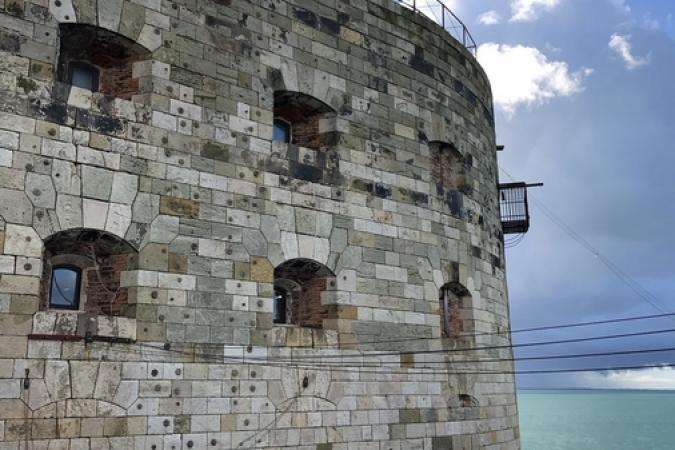 Fort Boyard 2017 - Le Fort depuis la plate-forme (19/05/2017)