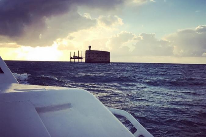 Fort Boyard 2017 - Coucher de soleil au fort (19/05/2017)