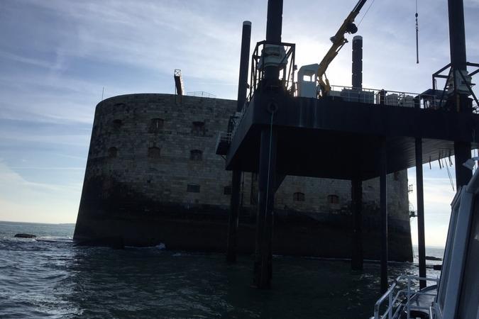 Fort Boyard 2017 - Arrivée au fort (23/05/2017)