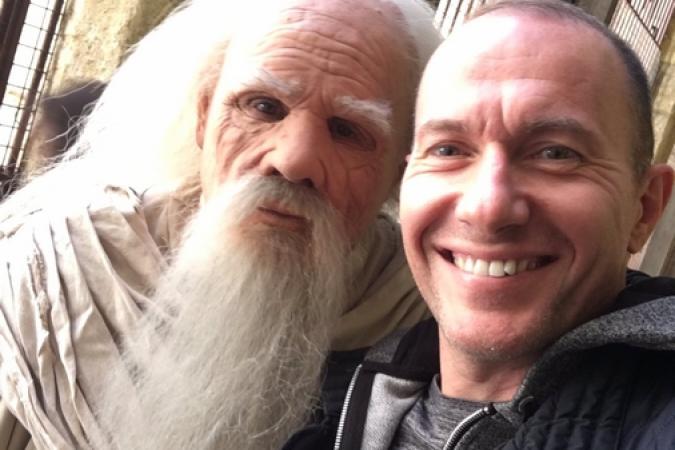 Fort Boyard 2017 - Pascal Soetens avec le Père Fouras (29/05/2017)