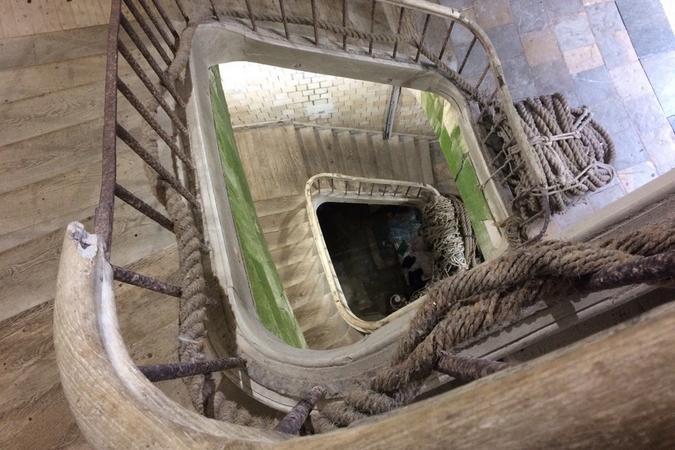 Fort Boyard 2017 - L'un des grands escaliers du fort (31/05/2017)