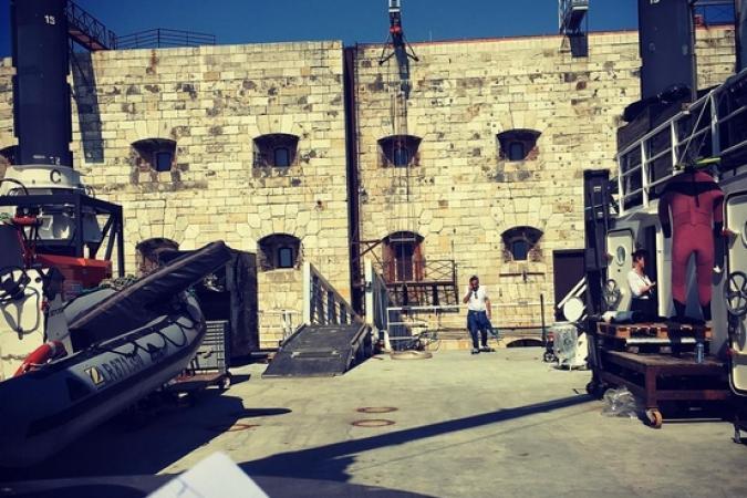 Fort Boyard 2017 - Le fort depuis la plate-forme (31/05/2017)
