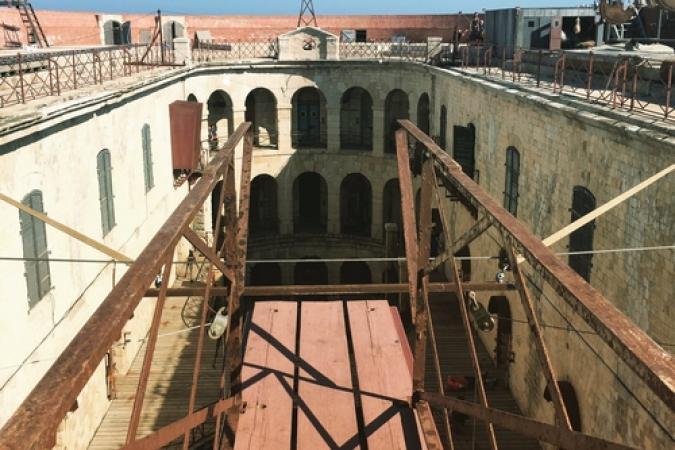 Fort Boyard 2017 - La cour depuis le Saut intérieur (01/06/2017)