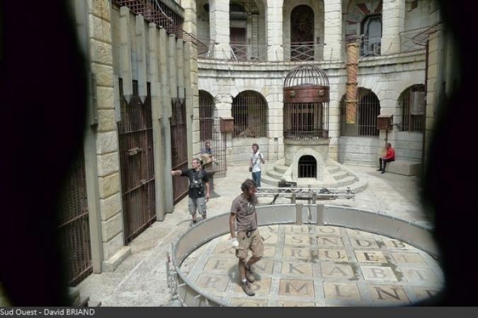 Fort Boyard 2017 - Montage de la Cerce dans la Salle du Trésor (02/06/2017)