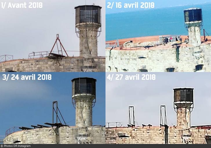 Fort Boyard 2018 - Installation nouvelle structure sur la terrasse (avril 2018)