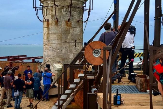 Fort Boyard 2018 - La terrasse pendant les tournages (26/05/2018)