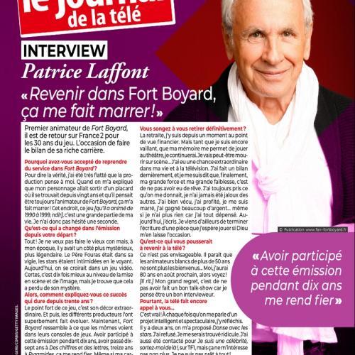 Télé 2 semaines n°404 (22 juin au 5 juillet) - Article de Benjamin Rabier