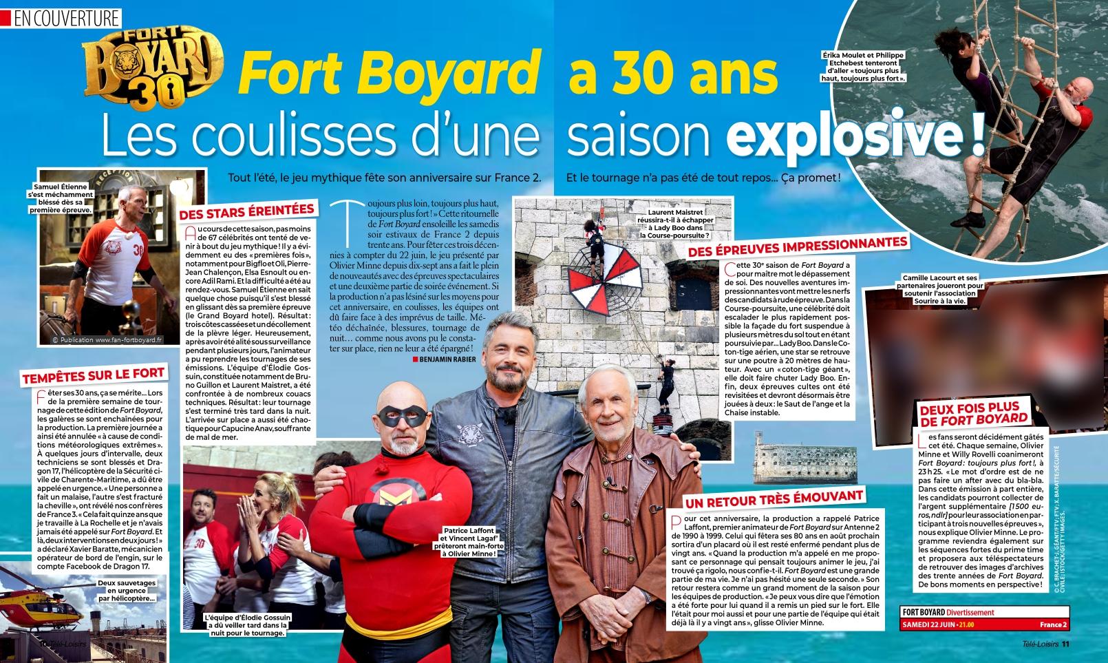 Revue de presse : Articles et reportages qui parlent de Fort Boyard 2019 Fort-boyard-2019-presse-teleloisirs-02