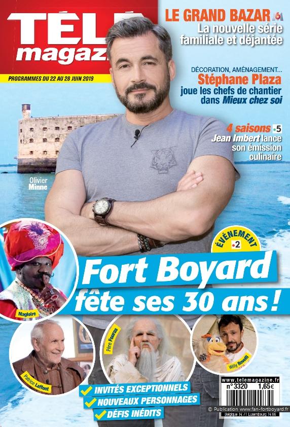 Revue de presse : Articles et reportages qui parlent de Fort Boyard 2019 Fort-boyard-2019-presse-telemagazine-01
