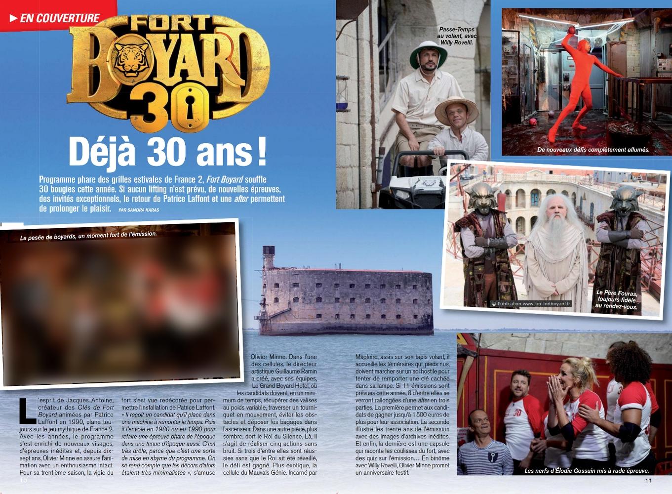Revue de presse : Articles et reportages qui parlent de Fort Boyard 2019 Fort-boyard-2019-presse-telemagazine-02