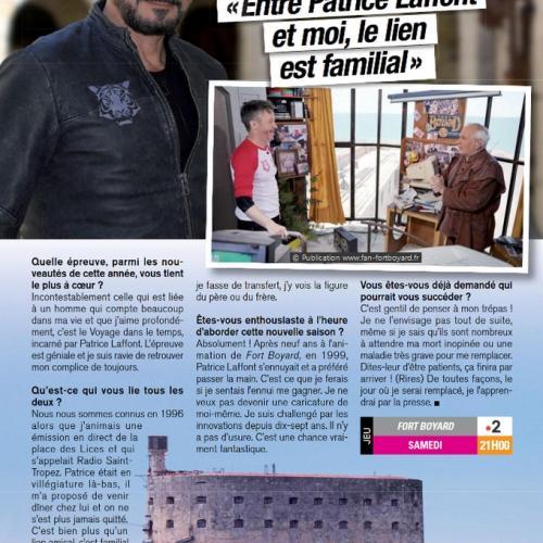 Télé Magazine n°3320 (22 au 28 juin 2019) - Article de Sandra Karas
