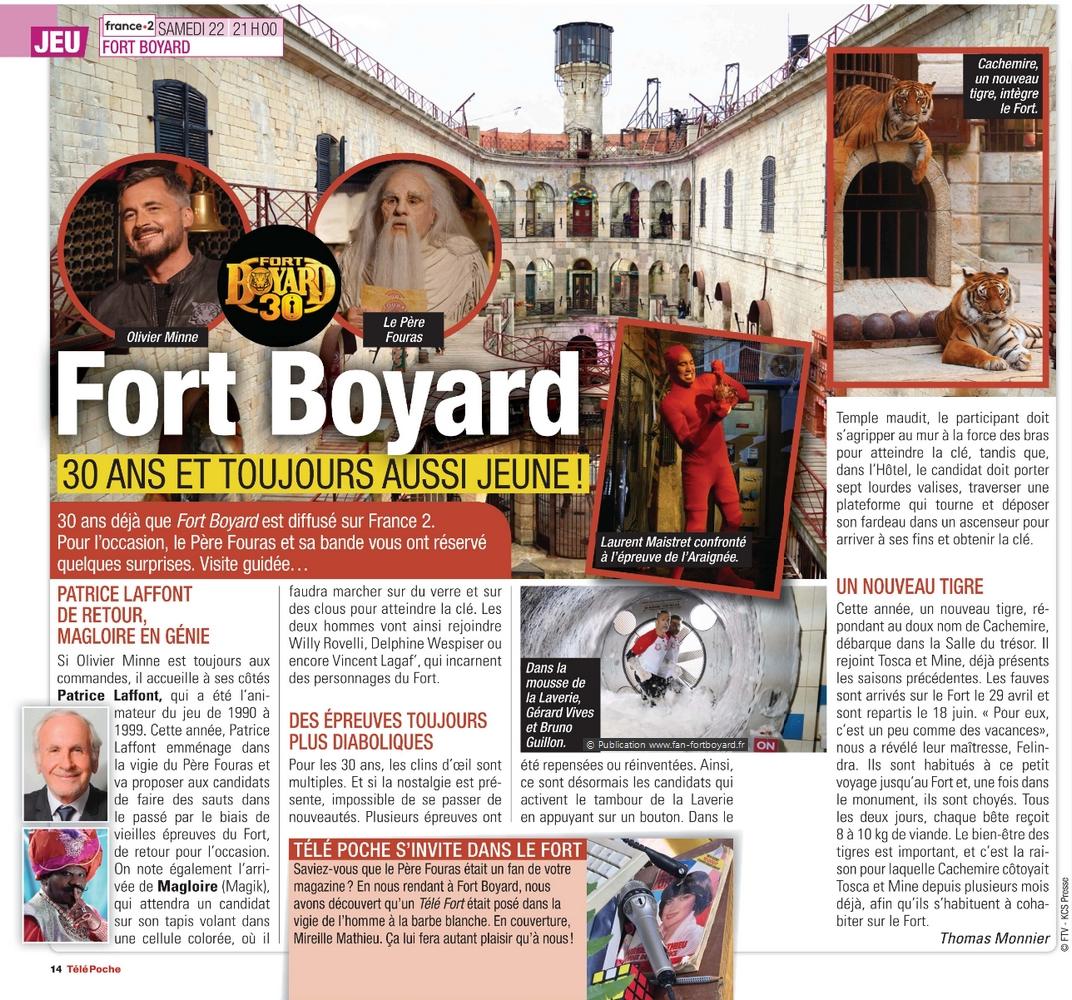 Revue de presse : Articles et reportages qui parlent de Fort Boyard 2019 Fort-boyard-2019-presse-telepoche-02