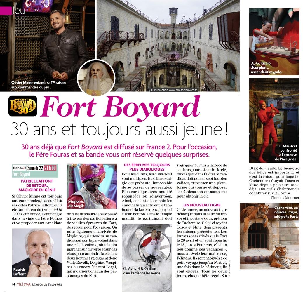Revue de presse : Articles et reportages qui parlent de Fort Boyard 2019 Fort-boyard-2019-presse-telestar-02