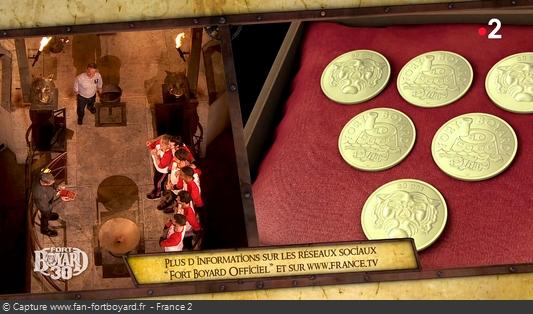 Fort Boyard 2019 : L'équipe reçoit en cadeau 6 Boyards de collection de la Monnaie de Paris
