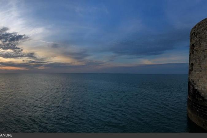 Fort Boyard 2019 - Premier coucher de soleil sur le fort (06/05/2019)