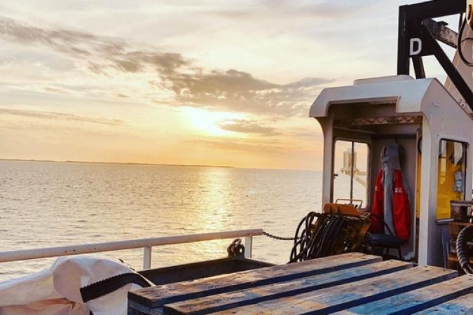 Fort Boyard 2019 - Fin de la journée de tournage, avec coucher de soleil depuis la plate-forme extérieure (07/05/2019)