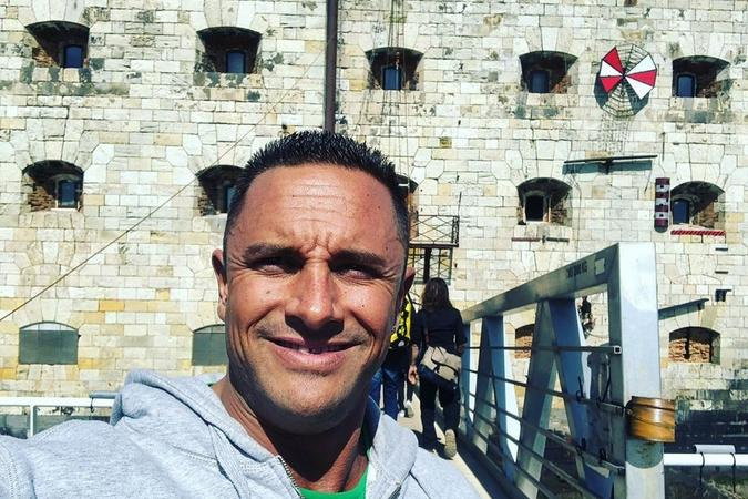 Fort Boyard 2019 - Cyril ANDRE, alias Mister Boo, devant le fort (10-11/05/2019)