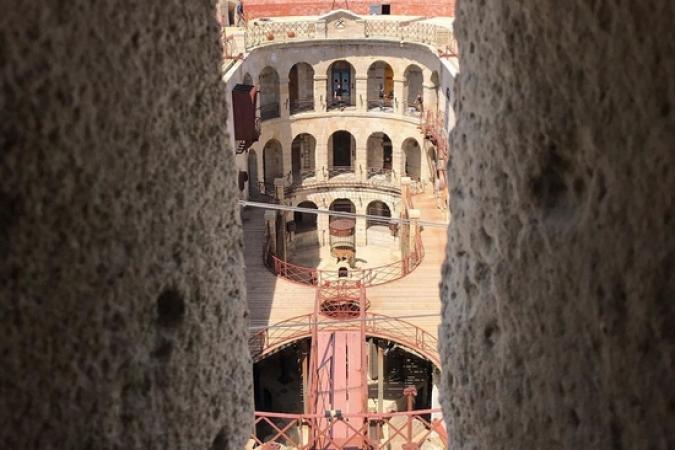 Fort Boyard 2019 - Vue du fort depuis la meurtrière de l'escalier de la vigie (14/05/2019)