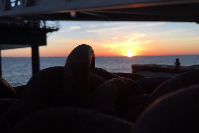 Fort Boyard 2019 - Coucher de soleil sur le fort (14/05/2019)