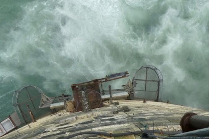 Fort Boyard 2019 - Le carrelet vue de la terrasse en avril (14/05/2019)