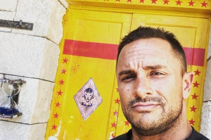 Fort Boyard 2019 - Cyril ANDRe devant la nouvelle porte de la Lutte (15/05/2019)