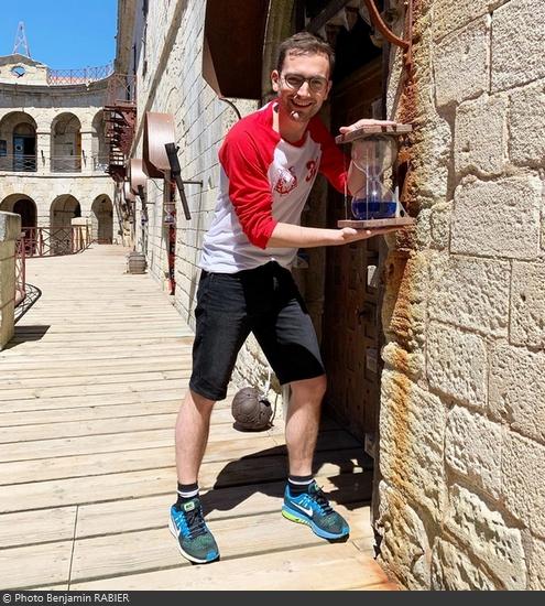 Fort Boyard 2019 - Le journaliste Benjamin Rabier teste les épreuves (15/05/2019)