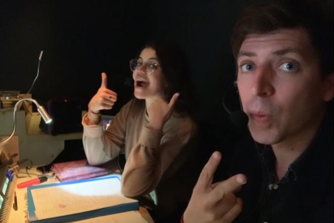 Fort Boyard 2019 - Guillaume Ramain et Inès Brahi en régie (16/05/2019)