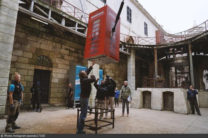 Fort Boyard 2019 - Tournage de la Cabine éjectable (après les tournages)