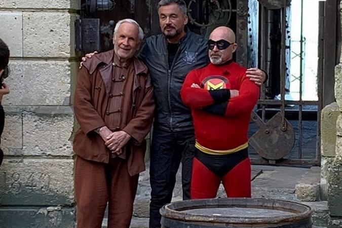 Fort Boyard 2019 - La trio Patrice Laffont, Olivier Minne et Vincent Lagaf' (après les tournages)