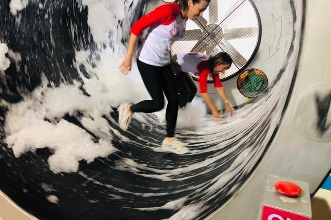 Fort Boyard 2019 - Alexia Laroche-Joubert dans la Laverie (après les tournages)