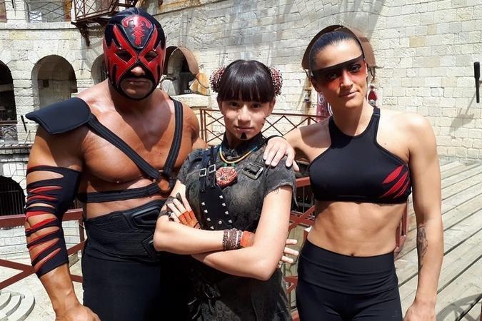 Fort Boyard 2019 - Mister Boo, Maï-Linh, Lady Boo (après les tournages)