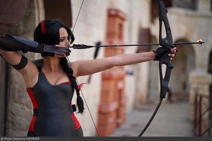Fort Boyard 2019 - Rouge tire sa flèche enflamée (après les tournages)
