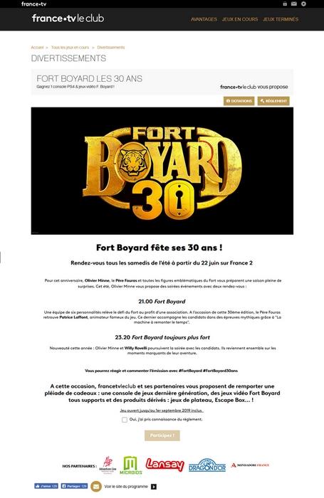 Fort Boyard 2019 - Jeu-concours web officiel Le Club France TV