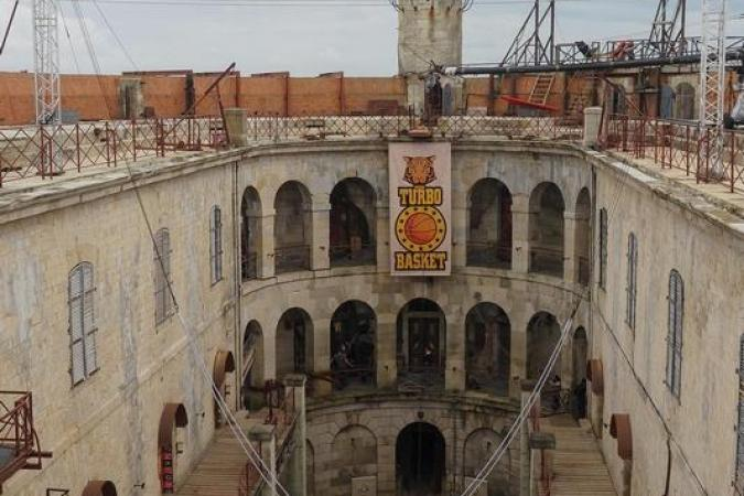Fort Boyard 2020 - Les installations de l'aventure du Turbo Basket