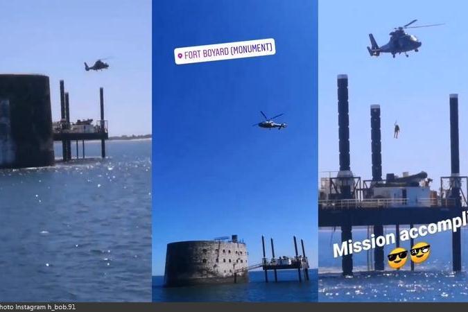 Fort Boyard 2020 - Exercice de secours et d'hélitreuillage (20/05/2020)